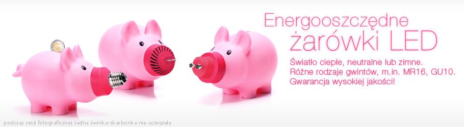 Energooszczędne żarówki LED - Światło ciepłe, naturalne, chłodne - różne rodzaje gwintów: MR16, GU10, E27... Gwarancja wysokiej jakości!