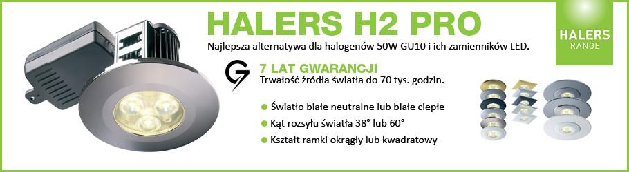 Lampa LED HALERS H2 PRO - najlepsza alternatywa dla halogenów 50W GU10 i ich zamienników LED - 7 LAT GWARANCJI