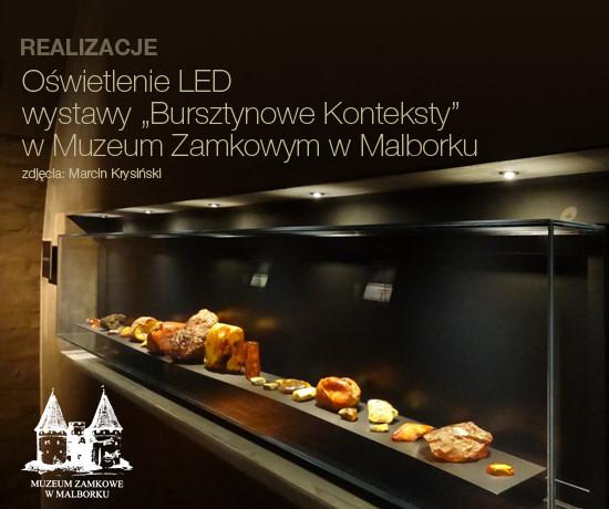 REALIZACJE: Oświetlenie LED wystawy Bursztynowe Konteksty w Muzeum Zamkowym w Malborku
